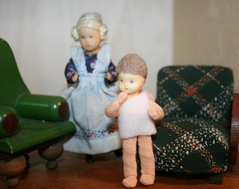 Vintage Doll -Lovely Erna Meyer baby angels - Dollhouse doll- made in Germany -Miniatures