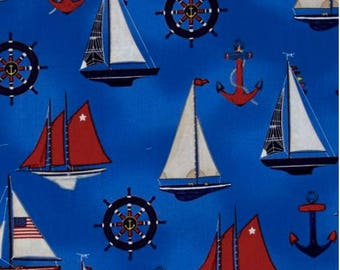 Robert Kaufman Down By The Sea/Collage Regatta/Cotton/Fabric/Sewing/Quilting