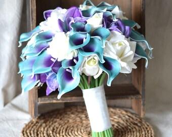 Purple teal wedding   Etsy