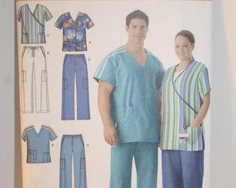 Simplicity 4101 Adult scrub uniform pattern Sizes S, M, L