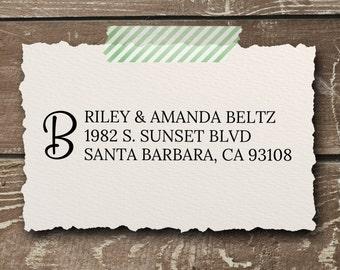 CUSTOM monogram Address Stamper - Self Inking Address Stamp - Pesonalized Stamper - Wedding Gift - Bridal Gift