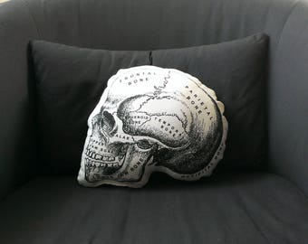 Skull Pillow anatomical skull medical student gift nurse practitioner medical school gift nurse graduation doctor gift general surgeon goth