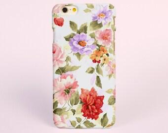 iPhone 8 case, iPhone X case, iPhone 7 plus case, iPhone 6s case tough case samsung galaxy s8 case, Rose Flowers Floral Tough iPhone Cases