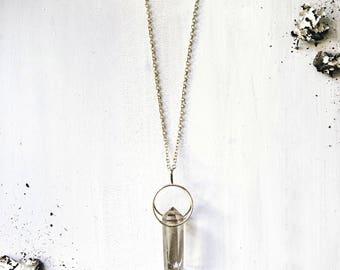 Raw Quartz Pendant Necklace, Quartz Point, Raw Stone Necklace, Quartz necklace, Festival Jewelry, Boho Jewelry, Quartz Crystal Necklace