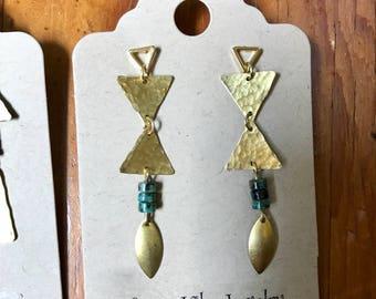 Triangle post earrings