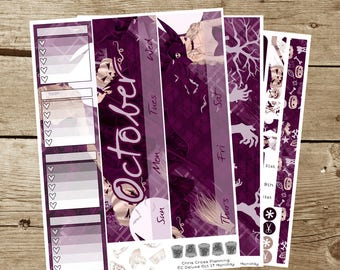 8.5x11 Monthly Kit: October 2017-- Something Witchy (for use in 8.5x11 Erin Condren Planner)