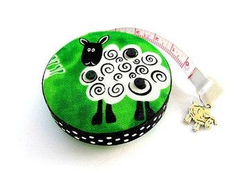 Tape Measure Green Sheep Retractable Measuring Tape