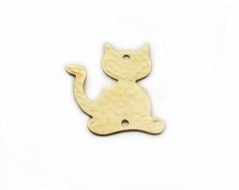 Cat Pendant, Large Pendant, Brass Pendant, Cat Brass Pendant, DIY Pendant, Jewelry Making