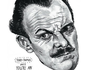 Terry-Thomas poster print Great English Comedy Actor