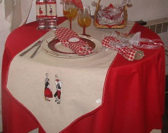 the catalan embroidered table runner