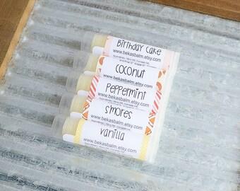 Lip Balm | Natural Lip Balm | Handmade Lip Balm | Beeswax Lip Balm | All Natural Lip Balm | Coconut Lip Balm | Peppermint Lip Balm | S'mores