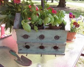 Birdhouse / Planter / outdoor planter / Centerpiece