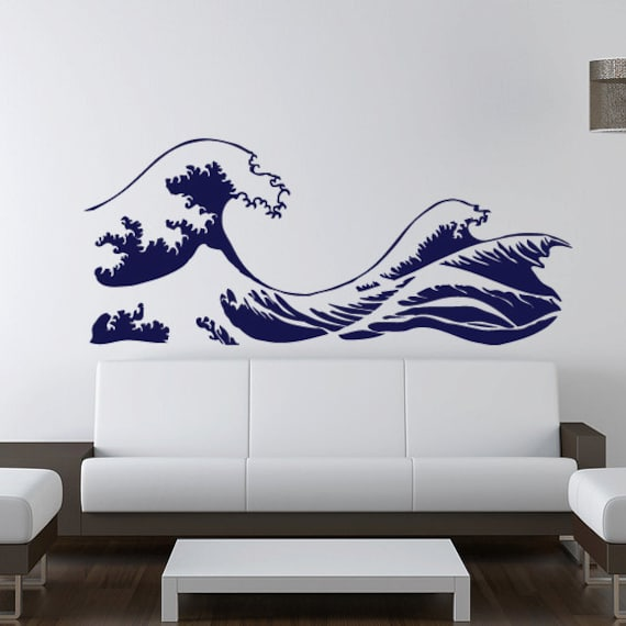 Kanagawa Wave Wall Decal Hokusai Vinyl Sticker