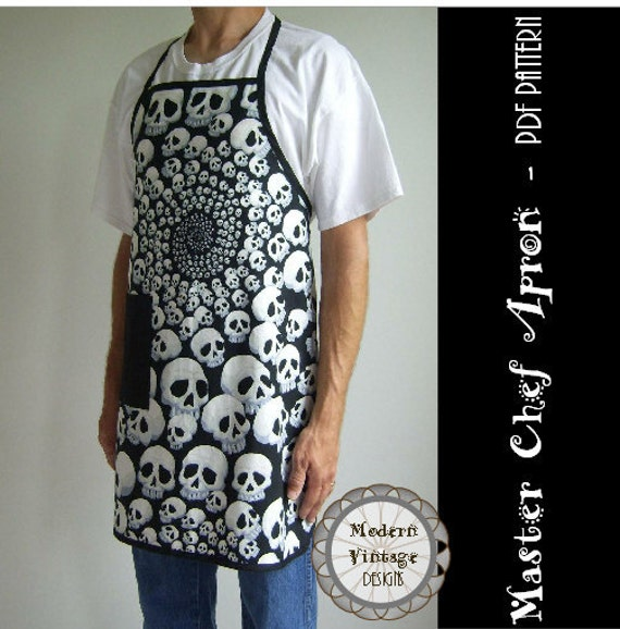 PDF Sewing Pattern and Tutorial Men\'s Full Apron in 3 Sizes - The ...