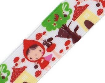 Ribbon grosgrain pattern little Red Riding Hood