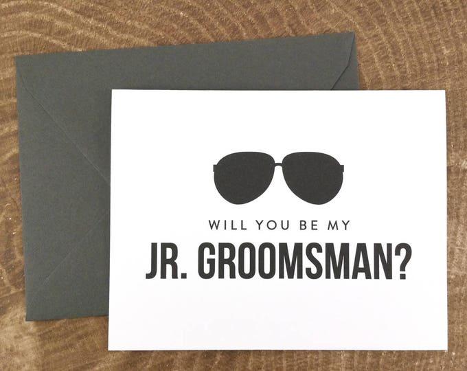 Will You Be My Junior Groomsman Card Funny Groomsman Card (FPS0006)