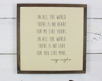 Maya Angelou Quote Sign - Quote Sign - Rustic Sign - Rustic Home Decor - Inspirational Sign - Maya Angelou