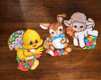 Easter Paper Die Cuts by Beistle Company Set of 3