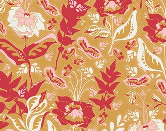 Reminisce by Bonnie Christine - Wonderment Honey  (RMS-1506) Art Gallery Fabric  - 1 yard