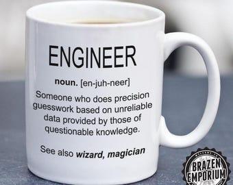 Engineer Mug, Engineer Definition Funny Mug, Mechanical Engineer Mug, Engineer Gifts Coffee - Tea Mug