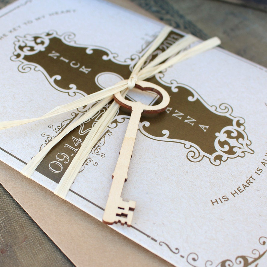 Fabulous Stunning Key To My Heart Wedding Theme Contemporary - Styles  HM41