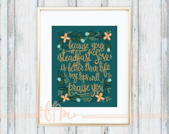 Psalm 63:3 Print