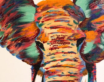 Elephant Colors - Original Acrylic Painting Prints