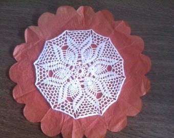 N80 really crocheted cotton DOILY