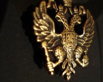 FABERGE Imperial EAGLE Badge Pin brass NEW Kaiseradler