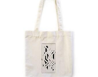 "Hand-printed ""Entanglement"" Tote Bag"