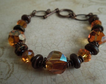 Helena Copper and Citrine Bracelet