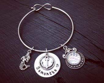 White Pearl Mermaid Scale Bracelet | Mermaid Jewelry | Beach & Nautical Jewelry | Mermaid Wedding Jewelry | Nautical Bridesmaid Jewelry Gift