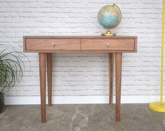 Bloom Desk / Vanity In Solid Walnut