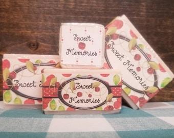 CHERRY ALMOND Scented Handmade  Goat Milk Bar Soap // Mild, Clean Scent // Sweet Memories