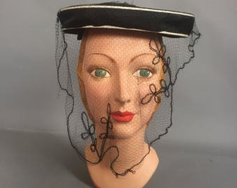 1930s veiled hat