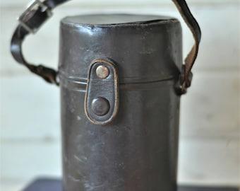 Vintage Lens Case, Leather Lens Case, Unique Storage Solution