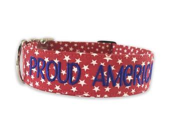 Personalized Dog Collar, Dog Collar Personalized, Dog Collar, 4th of July Dog Collar, Dog collar for large dog, dog collar for small do
