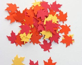 200 Maple Leaves Confetti, Die Cut Leaf, Fall Leaf Decor, Autumn, Thanksgiving Confetti, Party Supplies, Halloween, Fall in Love Wedding