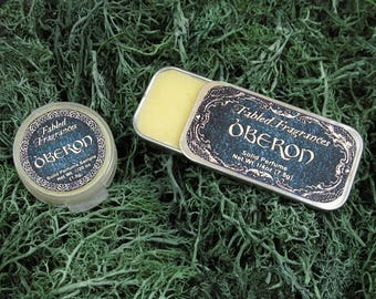 OBERON Solid Perfume with Artemisia Wormwood, Fig, Moss, Green Cognac, Tonka Bean, Oud Wood, VEGAN Perfume Balm, Ships Out in 5-8 Days