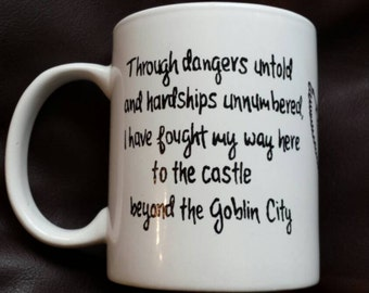 Hand Painted mug inspired by Labyrinth