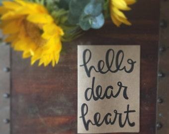 Hello Dear Heart Card