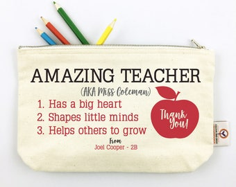 Thank You Apple...Teacher Pencil Case