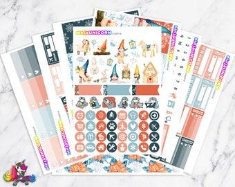 Little Gnomie || Planner Sticker Kit, Winter, Gnome, Planner Stickers, Planner Kit, Winter Sticker Kit, Gnome Stickers, Gnome Sticker Kit