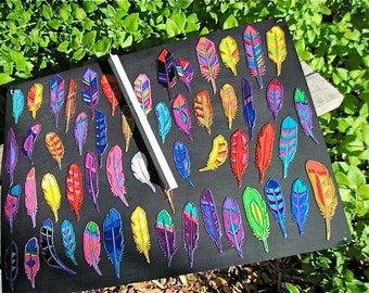 Painted Feather Magnets ,  Your choice of  One