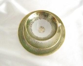 Vintage  Winterling. Bavaria tea cup, saucer and plate trio set.