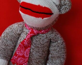 "Sock Monkey ""Beppo"" - Charming, ""Heritage-Style"""