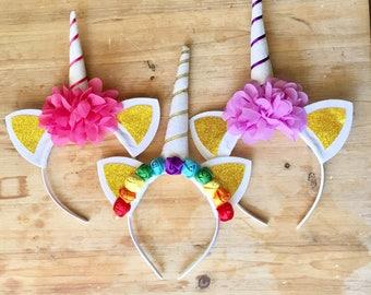 unicorn headband, unicorn crown, unicorn costume, rainbow headband, fairytale, halloween, fairyland, fairy tea party, party favors, dress up
