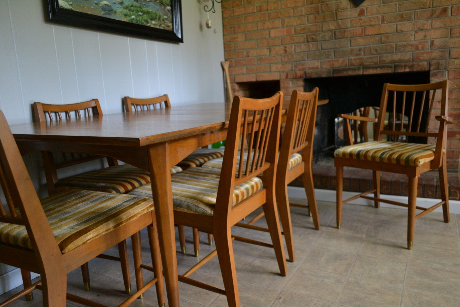 🔎zoom & Dining Set Table Hutch 6 Chairs Kroehler