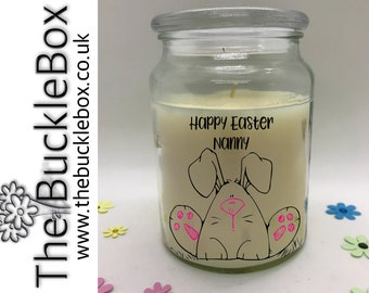 Easter bunny, Easter Candle, Easter Gift, Easter Egg, personalised Easter Candle, Scented Candle.