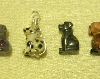 Gemstone Dog Necklace
